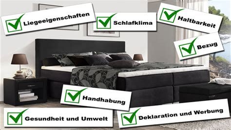 Stiftung Warentest Von Boxspringbetten In 2016 Reaktion
