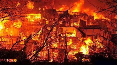 shangri la      massive fire devastates