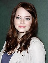 Emma Stone Dark Hair with Red