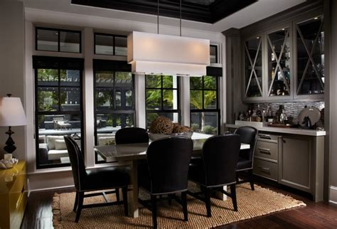 Dining Room With Bar by Leach Residence Contemporary Dining Room Miami By