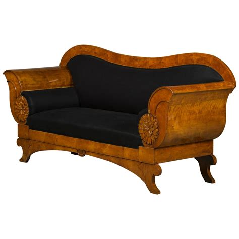 Biedermeier Sofa decorative and architectural biedermeier sofa in birch for