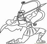 Bow Hercules Arrow Coloring Pages Printable Getcolorings Print Coloringpages101 sketch template