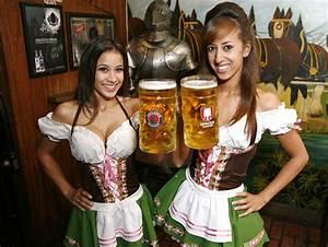 Oktoberfest Where Girls Dressed in Dirndls and Braided ...
