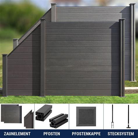 Sichtschutz Garten Anthrazit by Wpc Zaun Sichtschutzzaun Lamellenzaun Gartenzaun Terrasse