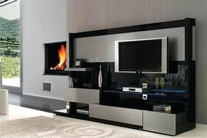 Meuble Moderne Salon : meuble tv design quelques exemples modernes ~ Teatrodelosmanantiales.com Idées de Décoration