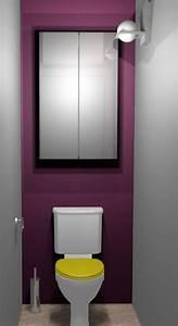 Deco Wc Gris : d coration d 39 int rieur de wc romainville 93 designement v tre ~ Melissatoandfro.com Idées de Décoration