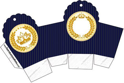 kit festa completo coroa de principe azul marinho 31