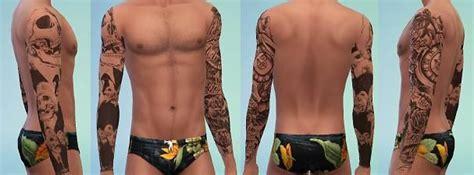 modthesims tattoos full sleeves  styles sims