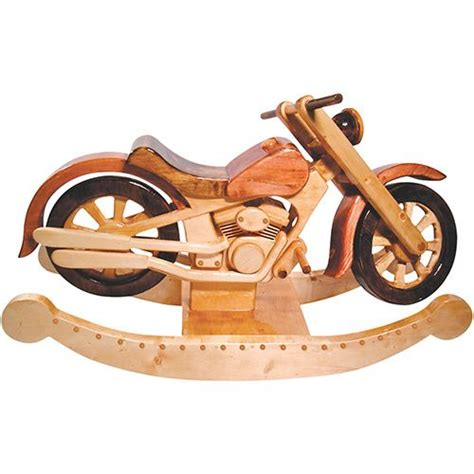 wooden rocking motorcycle  cool cool wood products