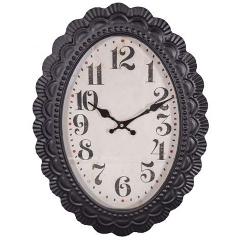 Oval wall clock old style by Antic Line, ideal for a