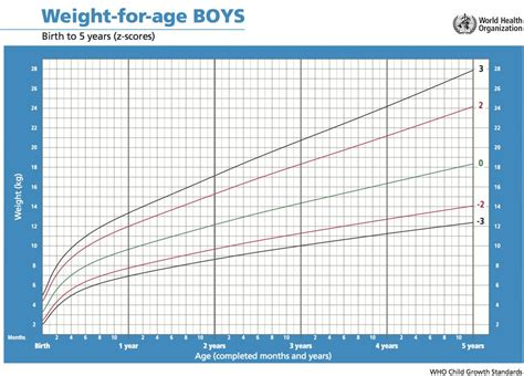 A511 Weight For Age Growth Standards Boys Ichrc
