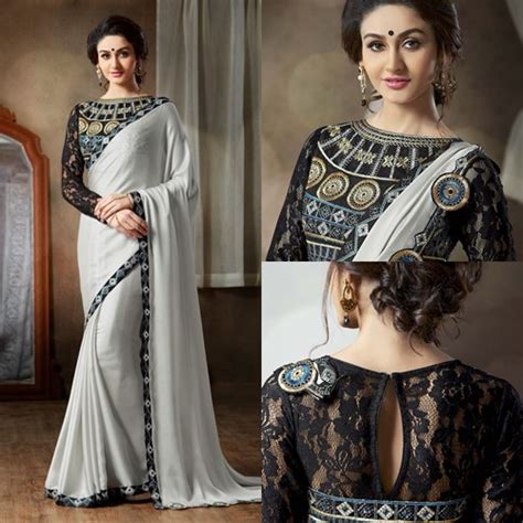 Boat Neck With Half Sleeve Blouse by 40 Saree Blouse Designs And Patterns That Will