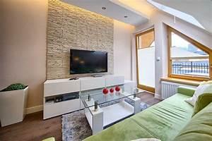 Wandgestaltung Mit Steinoptik : wandgestaltung im wohnzimmer 85 ideen und beispiele ~ Markanthonyermac.com Haus und Dekorationen