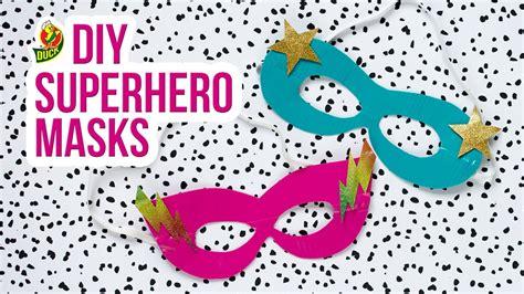 craft  duck tape superhero mask youtube