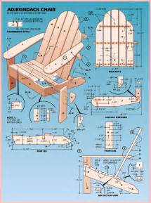 diy adirondack chairs plans patterns wooden pdf deck bench