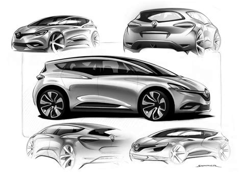 New Car Design : New Renault Scenic Design Sketch Render By Jeremie Sommer