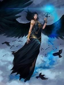 Original, Fantasy, Character, Beauty, Girl, Dress, Long, Hair, Beautiful, Wings, Angel, Sky