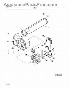 Parts For Frigidaire Glgr331as1  Motor Blower Parts