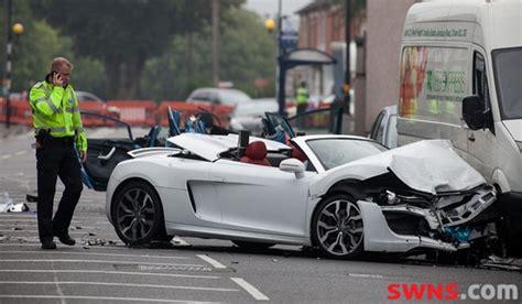 audi   spyder crash  birmingham leaves woman dead