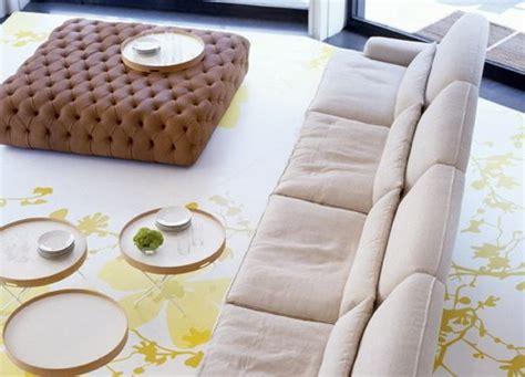 Living Room Arrangement. Pouf Capitonne By De Padova