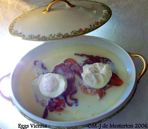 vienna elegant eggs cuisine recipe breakfast 1970s