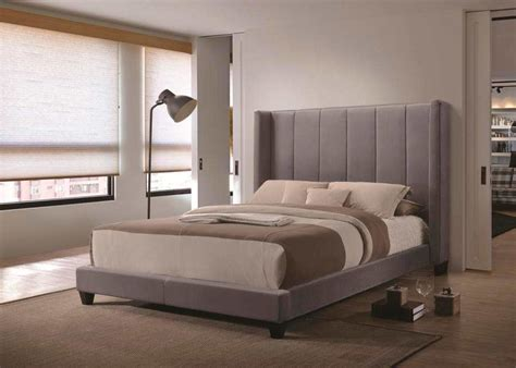 grey velvet bed  modern bedroom furniture