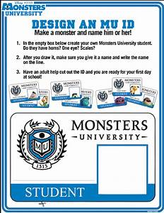 how to make your own monsters university id hispana global With university id card template
