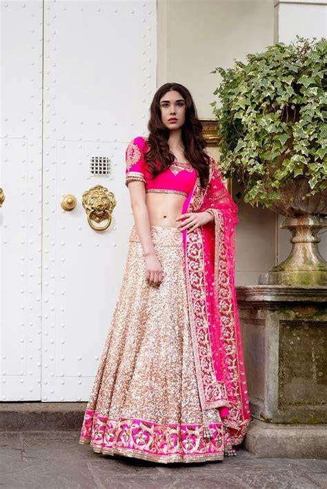 manish malhotra gold  pink lehenga   sequined