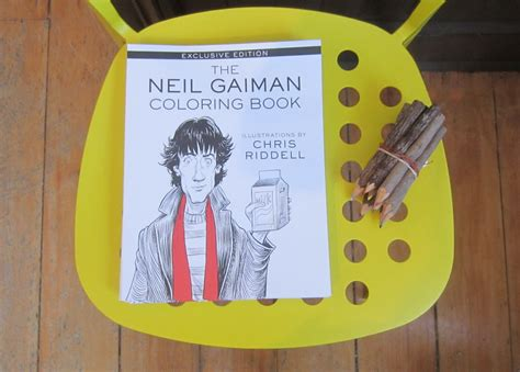 The Neil Gaiman Coloring Book authors for indies exclusive release 171 backbeat books
