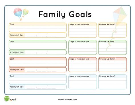 Meetings are tough to handle and more difficult it gets when you are in charge of the meeting with no proper knowledge about arranging it. Family Goal Setting Printable   Family goals, Family ...