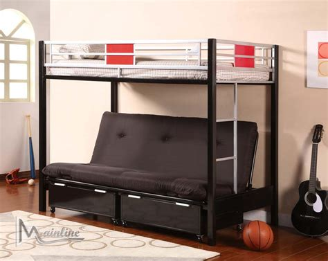 futon bunk futon bunk bed by mainline