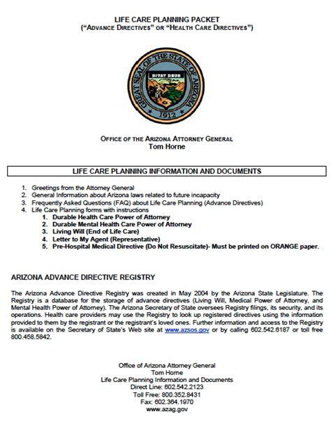 health care power of attorney form arizona free arizona medical power of attorney form template