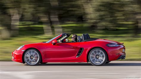 red porsche boxster 2017 2017 porsche 718 boxster s red side hd wallpaper 42