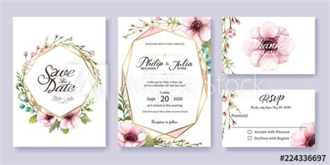 wedding invitation save  date   rsvp card