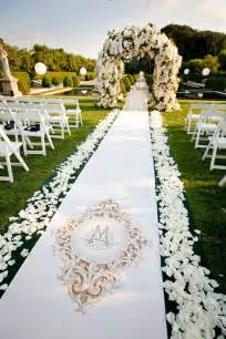 wedding aisle runners gorgeous wedding ceremonies the magazine