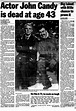The day John Candy died at 43 in 1994 - NY Daily News