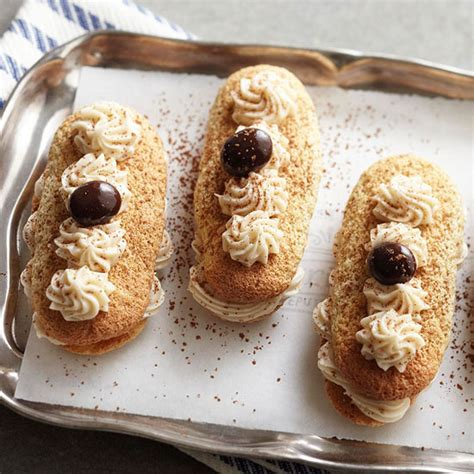 Ladyfingers can be found in the grocery store. Tiramisu Ladyfinger Sandwiches
