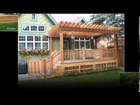 pergola designs for deck youtube