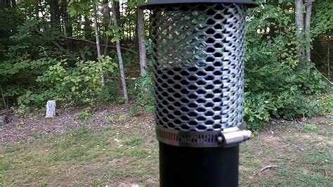 tms military wood stove spark arrestor modification youtube