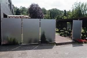 Edelstahl Sichtschutz Metall : glaszaun mit edelstahlbeschl gen megaglas ~ Orissabook.com Haus und Dekorationen