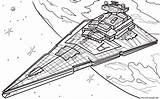 Wars Coloring Star Jedi Return Pages Destroyer Episode Printable Print Prints sketch template