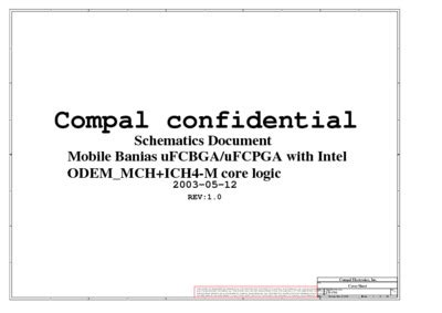 Compal La1701 R10 Schematics, Service Manual, Repair
