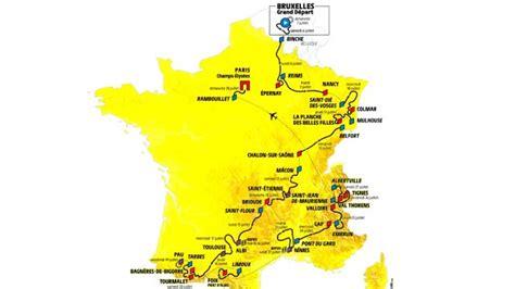 de france  map cycling