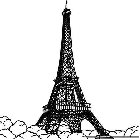 Cartoon Eiffel Tower Draw Pencil Drawings Sketch