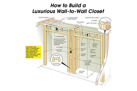 how to build a luxurious wall to wall closet