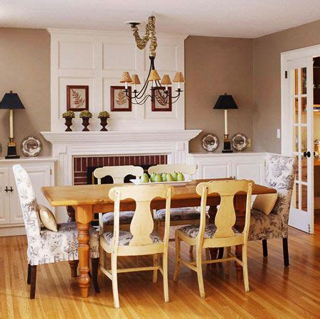 room decorating ideas  dining room  fireplace