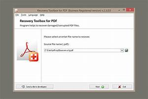 recovery toolbox for pdf open unreadable pdf files With pdf document recovery