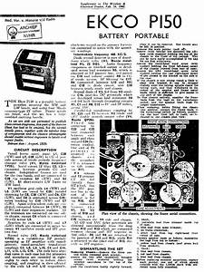 Ekco P150 Battery Portable Receiver 1940 Sm Service Manual