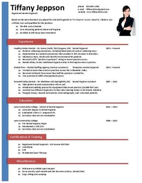 Dental Hygienist Qualifications Resume by 33 Best Images About Dental Hygiene Resumes On