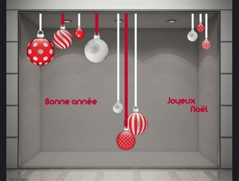 stickers vitrines decoration noel boules best 20 stickers vitrine ideas on